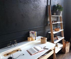 Biurko komputerowe ASHME - białe